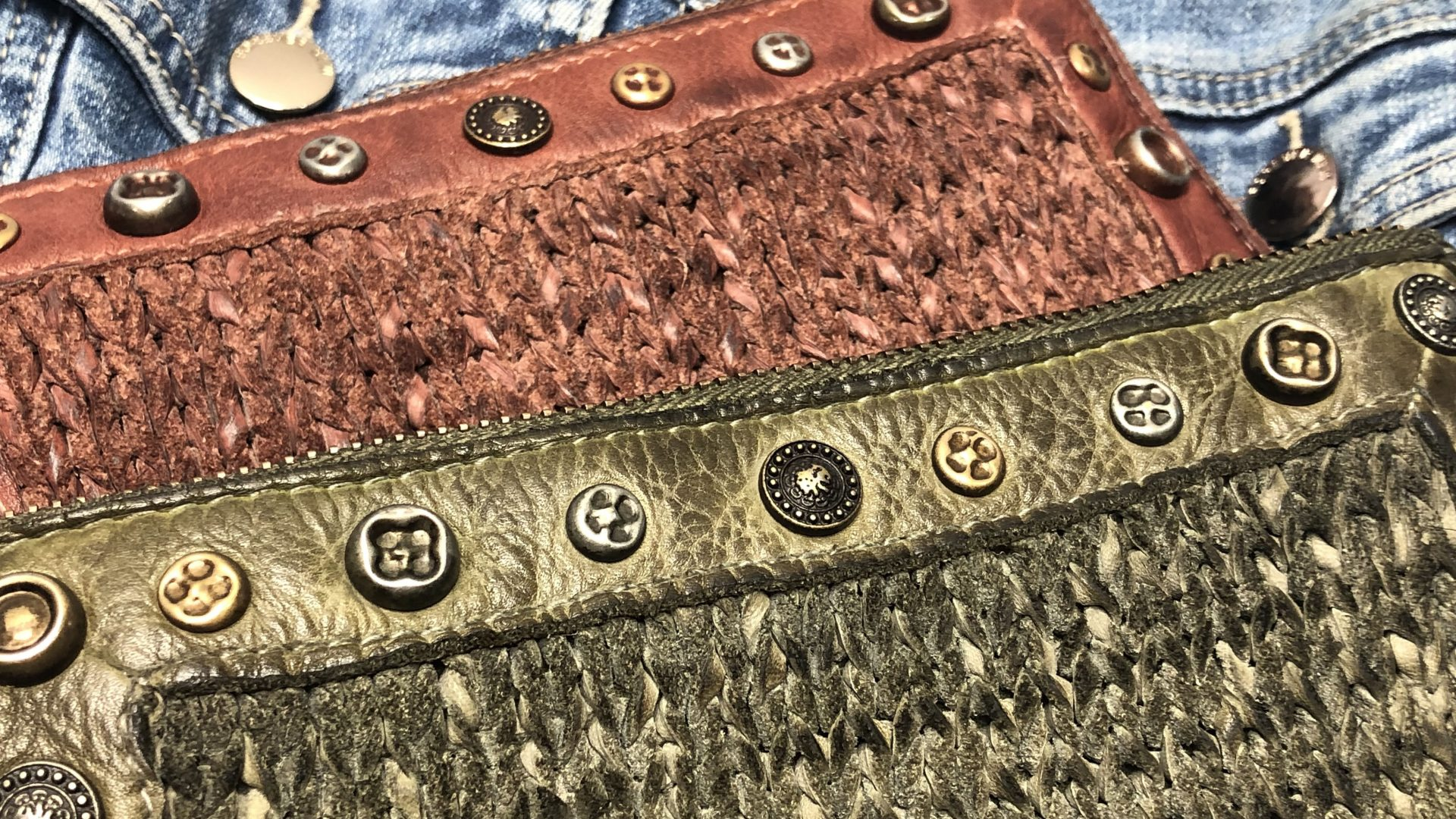 knitted leather!