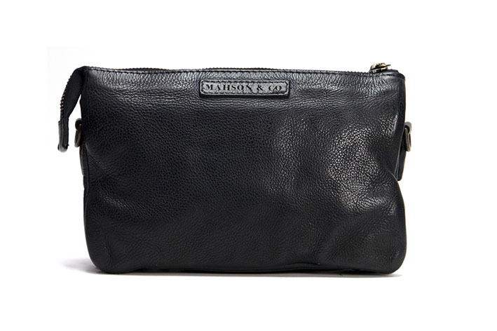Vintage, retro and boho inspired genuine leather clutch cross body hand bag