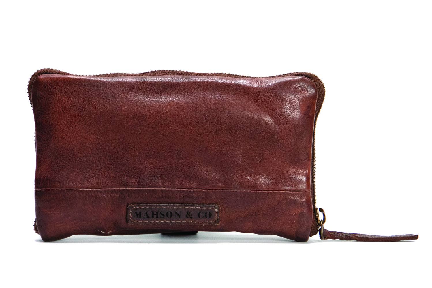Vintage, retro and boho inspired leather wallet - cognac