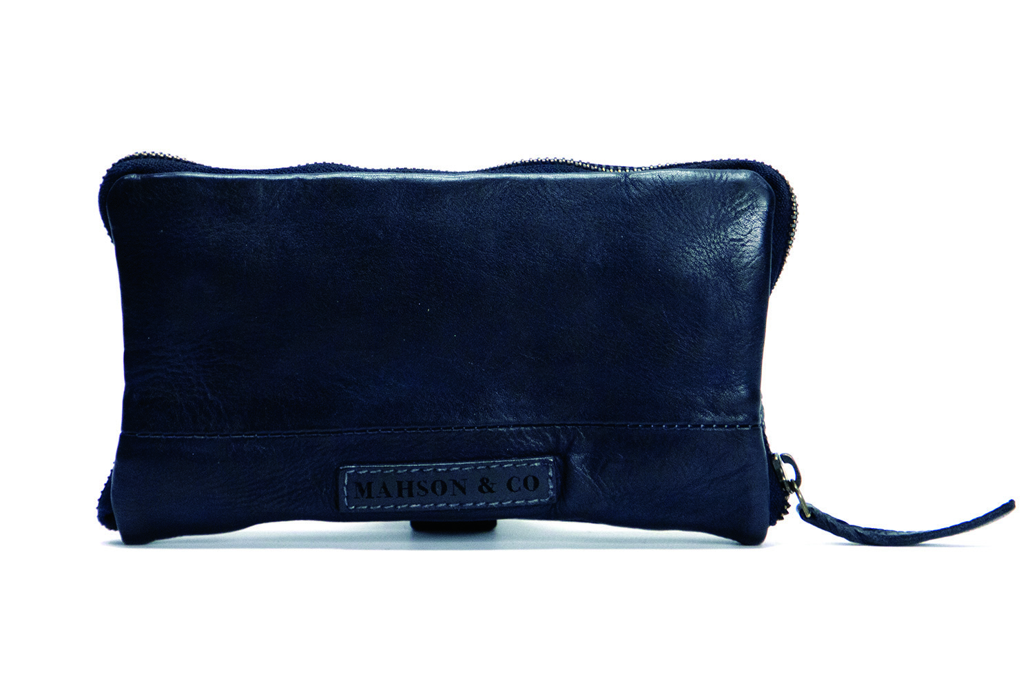 Vintage, retro and boho inspired leather wallet - navy