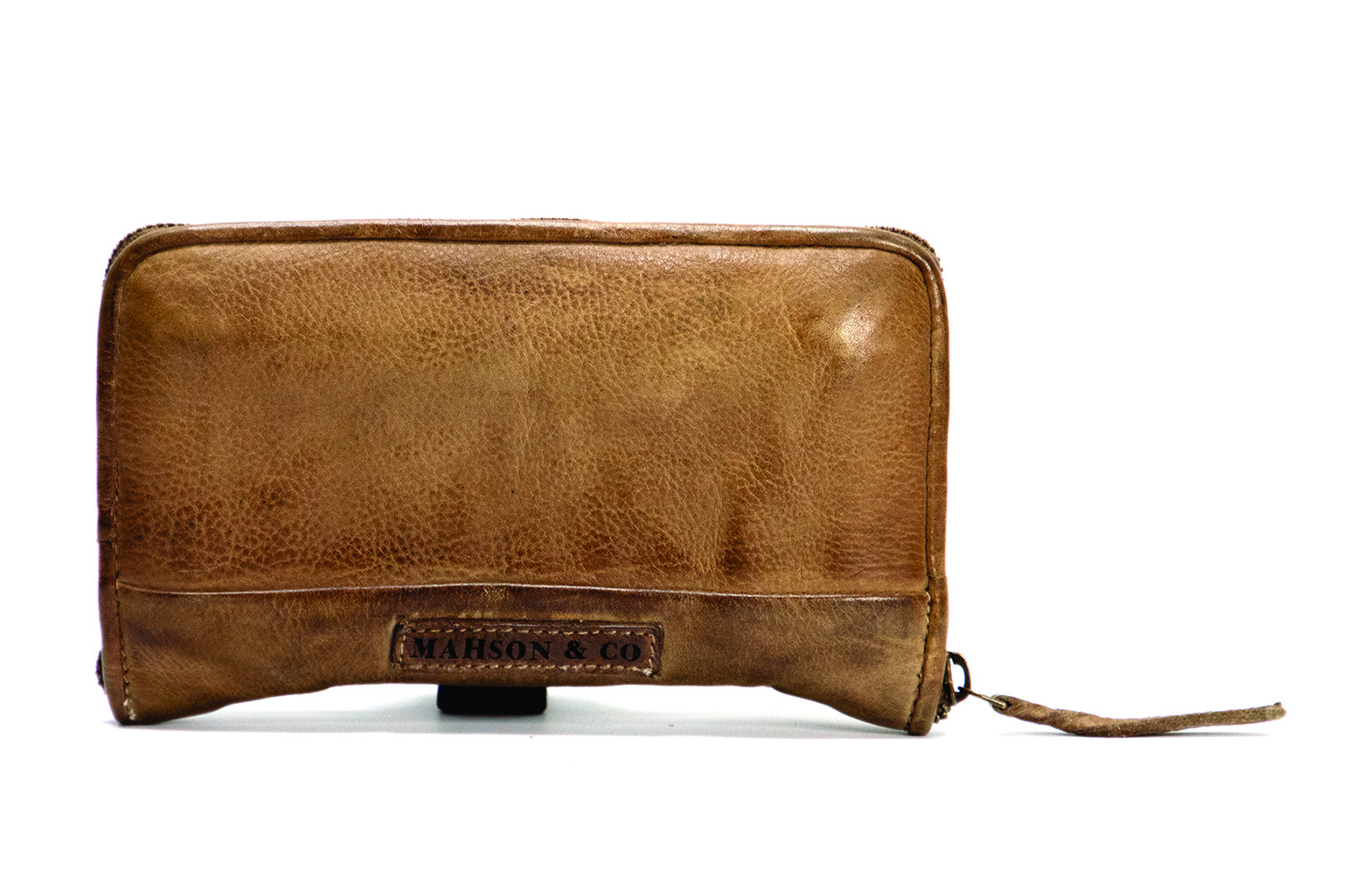 Vintage, retro and boho inspired genuine leather wallet