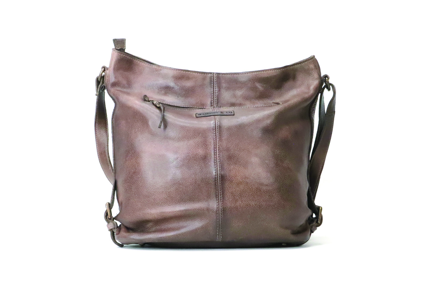 Genuine leather vintage inspired shoulder bag